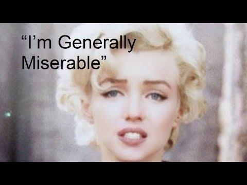 Im Generally Miserable RARE Marilyn Monroe Interview 1960
