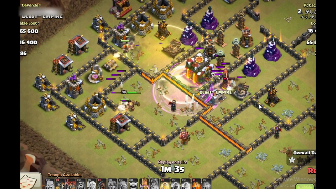 Th 10 War Base Anti All 1 Star 2017 Youtube