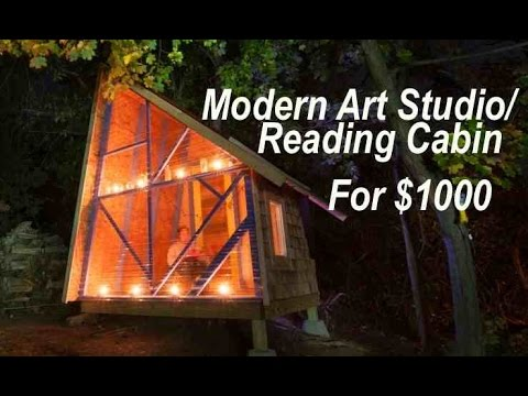 A $1000 backyard tiny house-like art/reading studio near Boston... - YouTube - A $1000 Backyard Tiny House-like Art/reading Studio Near Boston