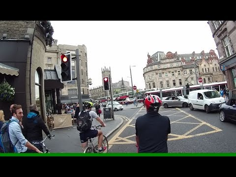 Cycling Edinburgh West End with wheelies