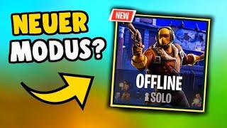 NEW OFFLINE MODE in FORTNITE? (with bots)