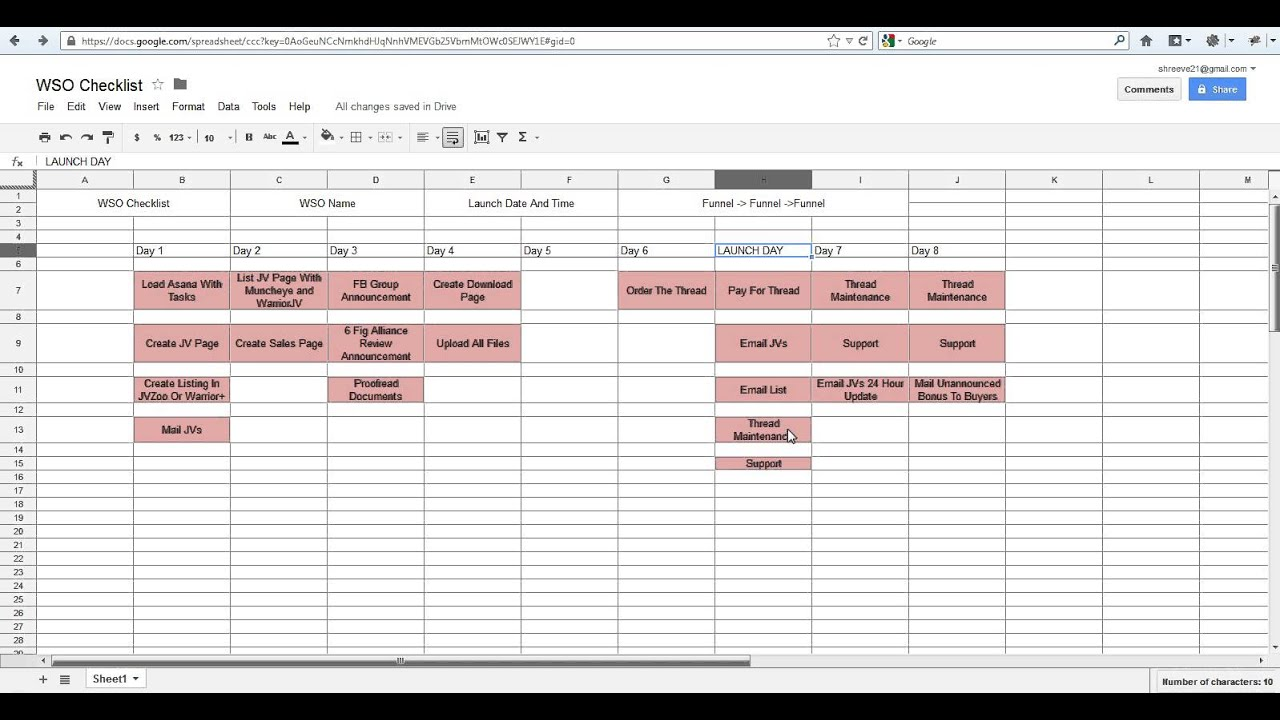 WSO Project Management Checklist YouTube – Project Checklist