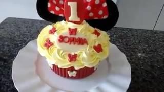 Decoração de Smash Cake Minie