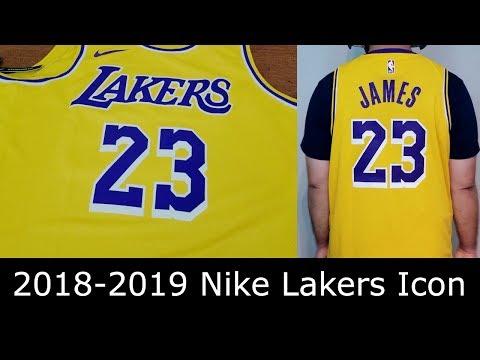 premium selection 4994f a885c 2018-2019 Los Angeles Lakers Lebron James Nike Swingman Icon ...