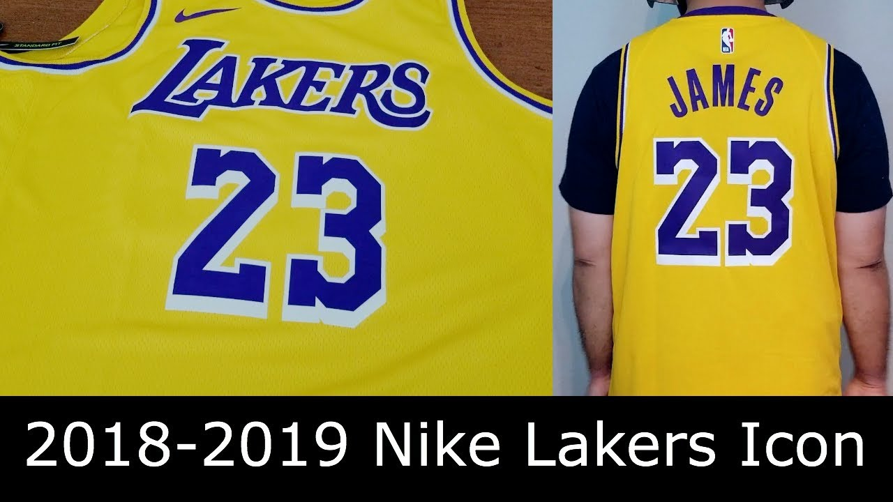 11341c56500 2018-2019 Los Angeles Lakers Lebron James Nike Swingman Icon Edition Jersey  Review   Comparison