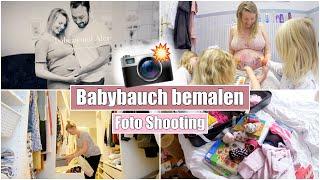 Babybauch anmalen 😍 Foto Shooting & Koffer für Geburt packen | Isabeau