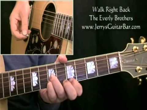 How To Play The Everly Brothers Walk Right Back (intro only)