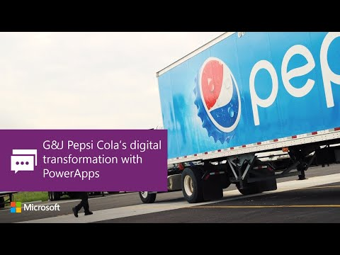 G&J Pepsi Cola's digital transformation with PowerApps