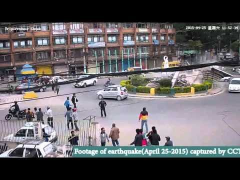 Earthquake in Nepal 2015, CCTV footage
