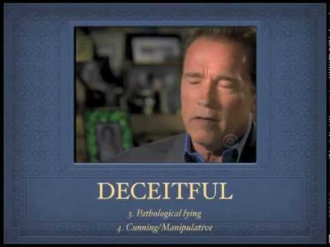 GOVERNOR PSYCHOPATH: Diagnostic Criteria applied to Schwarzenegger on 60 Minutes