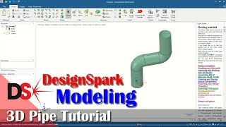 3D Pipe Tutorial With DesignSpark Mechanical