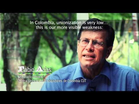Fabio Arias of the Central Unitaria de Trabajadores (CUT)