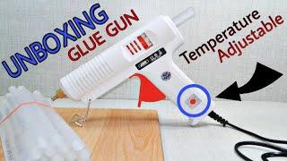 Unboxing Glue Gun, Hot Melt MODEL-JOER S 801, Review, Use All Type Glue stick, Raitool PT02 150W,