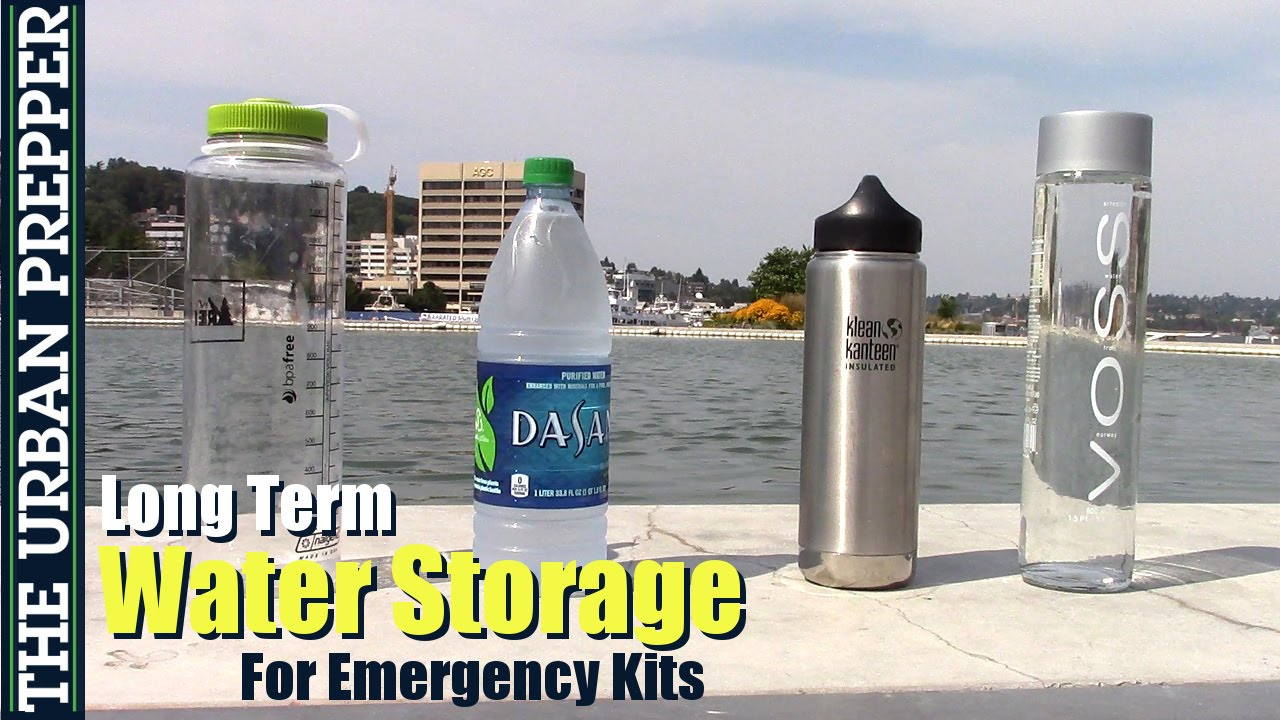 Long Term Water Storage For Prepping Kits by TheUrbanPrepper & Long Term Water Storage For Prepping Kits by TheUrbanPrepper - YouTube