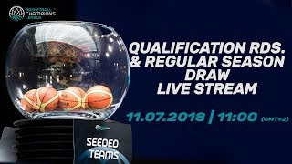 2018/2019 Qualification Rounds and Regular Season Draw - Basketball Champions League