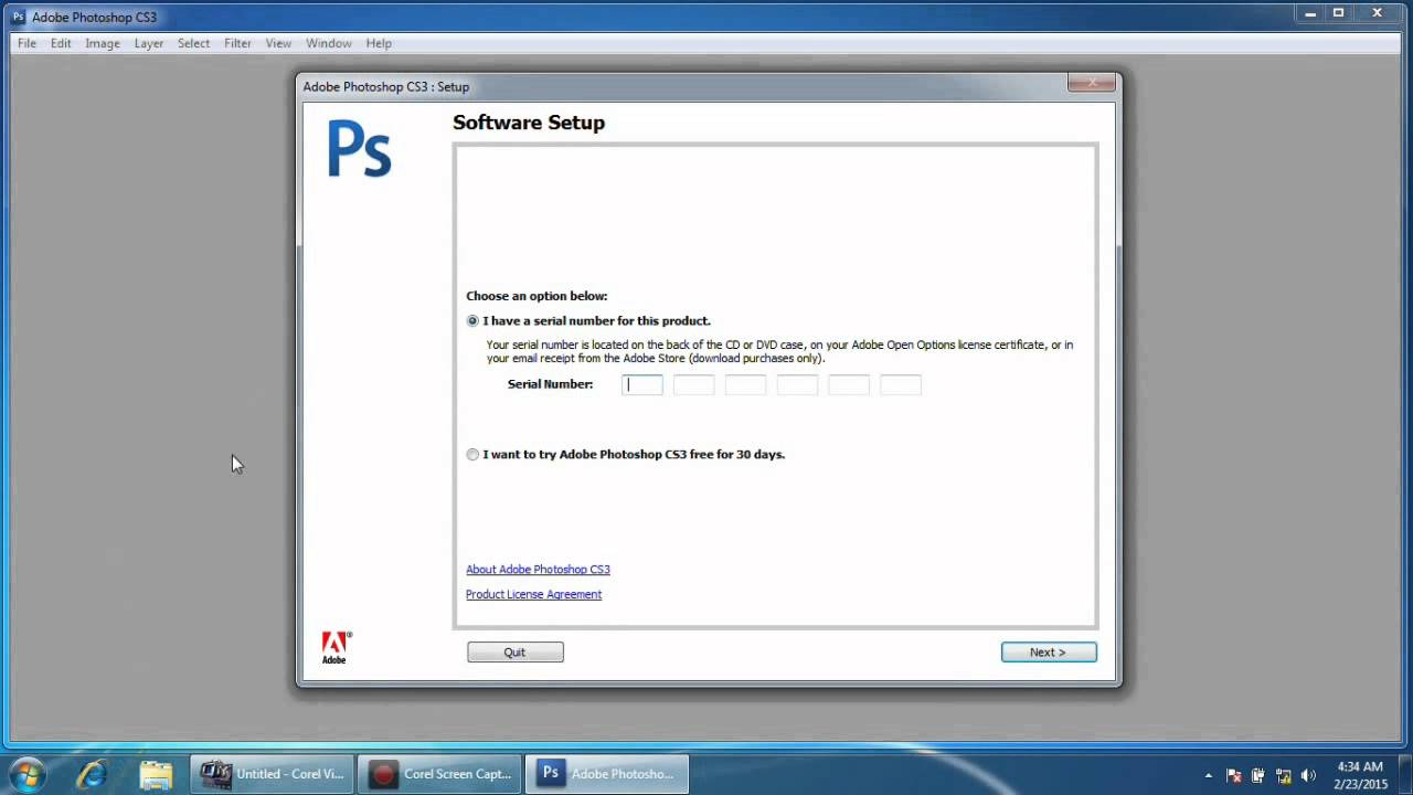 Adobe photoshop cs3 installation