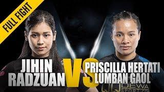 ONE: Full Fight | Jihin Radzuan vs. Priscilla Hertati Lumban Gaol | Ground Battle | July 2018
