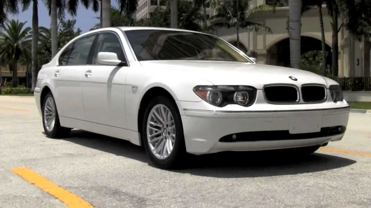 2003 BMW 745Li Alpine White Gulfstream Motorcars   YouTube