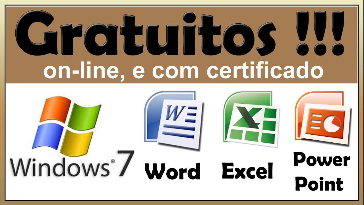 Cursos De Windows Word E Excel Gratuitos Online E Com Certificado