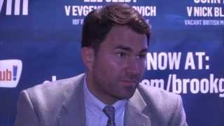 EDDIE HEARN - 'WHAT IS AMIR KHAN'S EXCUSE FOR NOT FIGHTING KELL BROOK ??! ITS ALL B#**£CS !!