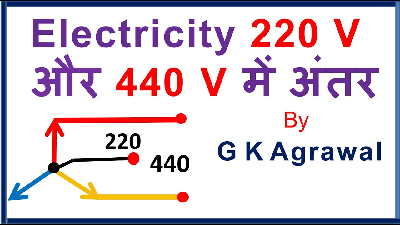 Ac Supply 220 440 V Phase Line Voltage Difference Hindi Youtube 120 240 Volt Wiring Diagram 12 Lines