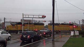 UP 1488 LRR93 Lodi Local and Light Rail, Mather Field Rd. Railroad Crossing, Windy Rancho Cordova CA thumbnail