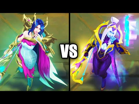 Fae Dragon Ashe vs Cosmic Queen Ashe Epic Skins Comparison (League of Legends)