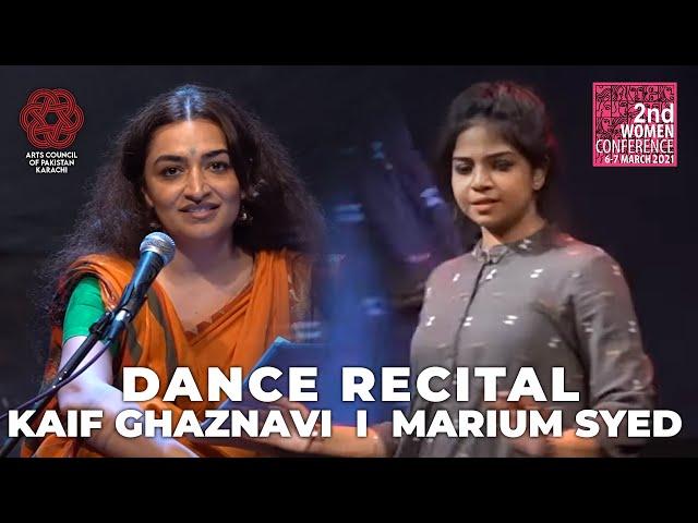 Dance Recital | Kaif Ghaznavi | Marium Syed | 2nd Women Conference #acpkhi #womenconference
