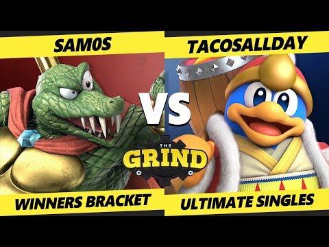 Smash Ultimate Tournament - Sam0s (K Rool) Vs. Tacosallday (Dedede) The Grind 101 SSBU Winners Rd 2