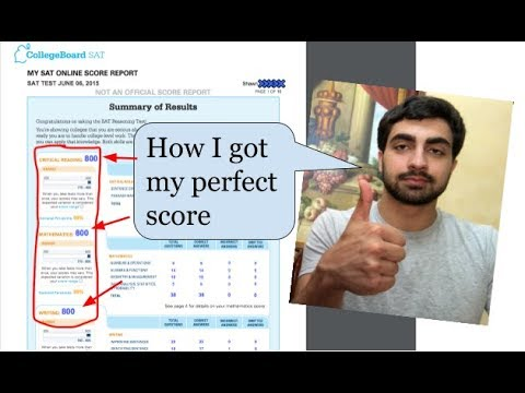 How to Destroy the SAT and Earn a Perfect Score - YouTube
