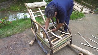 Grandpa Amu used an ancient method to make the rocking chair ,No nails and glue,that's amazing