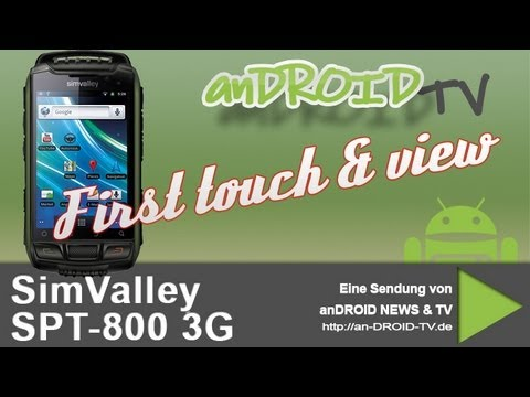 SimValley SPT-800 3G - First touch & view - anDROID TV