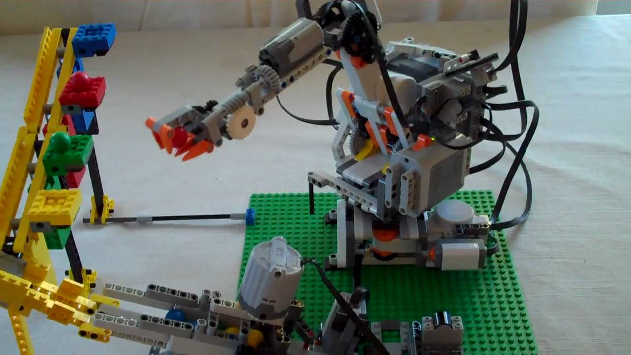 Robot arm marble sorter - YouTube