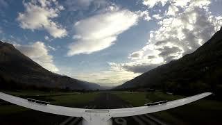 Landing at Sondrio airfield