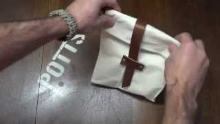 Make a Canvas and Leather, lined Lunch B...