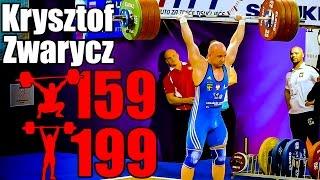 Krzysztof Zwarycz (85kg, Poland) 159kg Snatch 199kg Clean and Jerk - 2017 European Championship