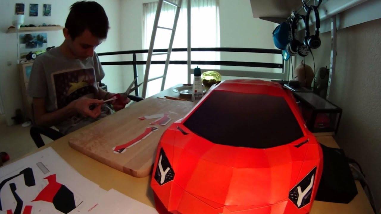 Lamborghini Aventador Visualspicer S Papercraft Youtube