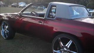 CANDY RED Cutlass on 26s @ Bat96Chevy Cookout