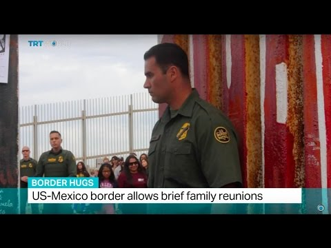 Border Hugs: US-Mexico border allows brief family reunions