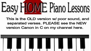 Canon (in C) easy piano instruction
