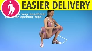 Exercise for Easier Labor and Delivery - Opening Hips during Pregnancy - Prenatal Exercise at Home