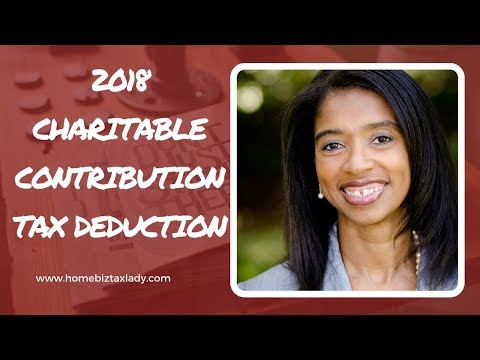 2018 Charitable Contribution Tax Deduction