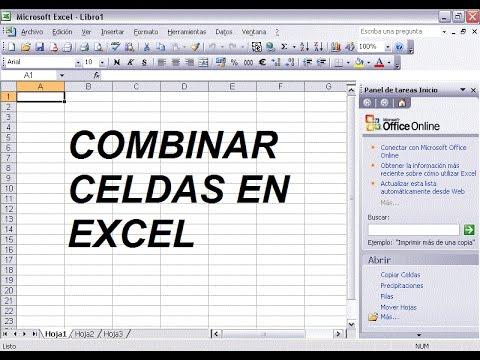 Celdas Excel - Combinar Celdas En Excel - Excel - Como
