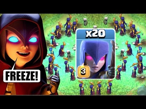 "Thumbnail: NEW ""FROZEN WITCHES"" COMBO CHALLENGE!! ❄️ Clash Of Clans ❄️"