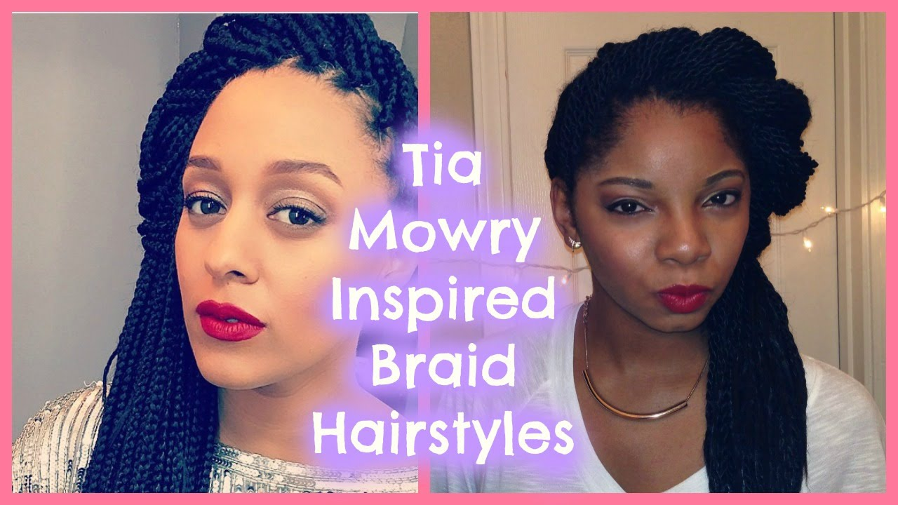 tia mowry inspired braid hairstyles - youtube