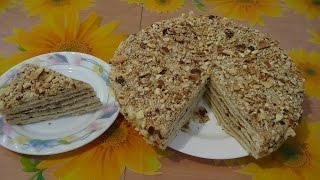 Как приготовить торт наполеон на сковороде за 20 мин
