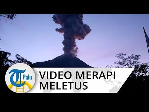 Video Rekaman Detik-detik Gunung Merapi Meletus pada Kamis 13 Februari 2020