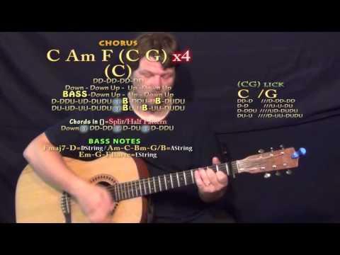 Locked Away (R. City) Guitar Lesson Chord Chart - Capo 1st