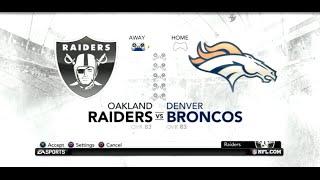 PS3 Gameplay: Madden NFL 12 (Season Week: 1) [Raiders vs Broncos]