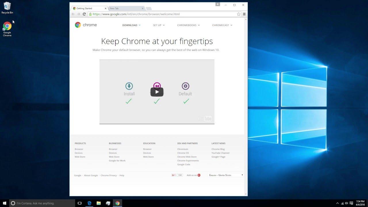 How to Install Google Chrome on Windows 10 - YouTube